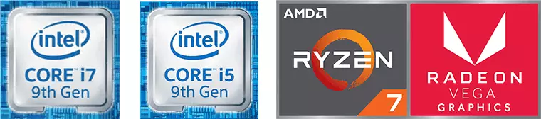 intel core i5 9th Gen,intel core i7 9th Gen,AMD RYZEN 7,RADEON VEGA GRAPHICS