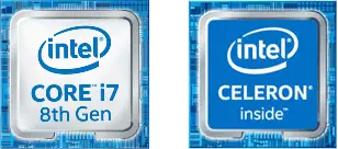 intel CORE i7 8th Gen,intel CELERON inside